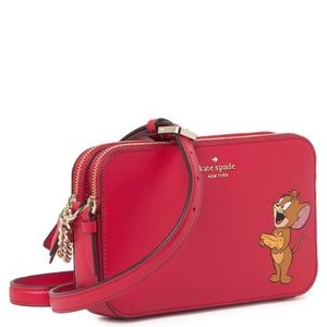 Authentic Kate Spade leather Tom & Jerry 2zip Crsb